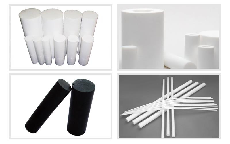 White Plastic Molded Ptfe Rod .jpg