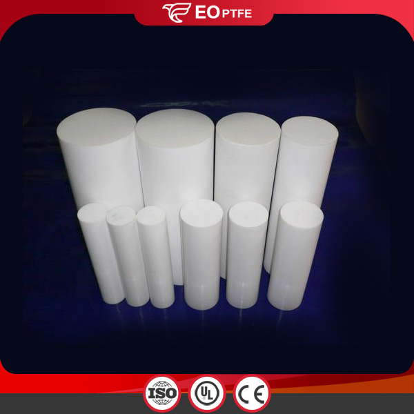 White Plastic Molded PTFE Rod
